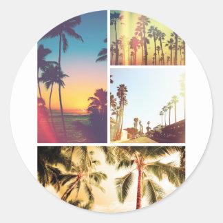 Wellcoda Holiday Summer Fun Sunshine Break Classic Round Sticker