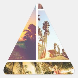 Wellcoda Holiday Summer Fun Sunshine Break Triangle Sticker