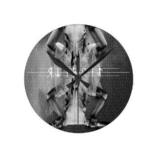Wellcoda Horror Animal Mask Cult Leader Round Wall Clocks
