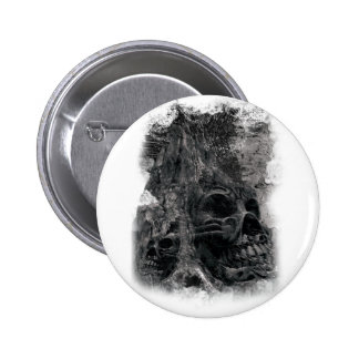 Wellcoda Horror Skull Death Scary Evil Pinback Button