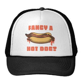 Wellcoda Hot Dog Junk Food Animal Dinner Trucker Hat