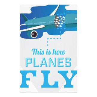 Wellcoda How Airplane Fly Jet Sky Bird Stationery