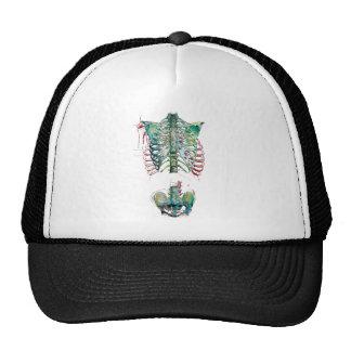 Wellcoda Human Body Rib Cage Skeleton Fun Trucker Hat