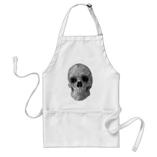 Wellcoda Human Candy Skull Death Head Adult Apron
