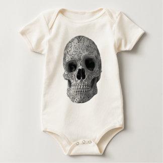 Wellcoda Human Candy Skull Death Head Baby Bodysuit