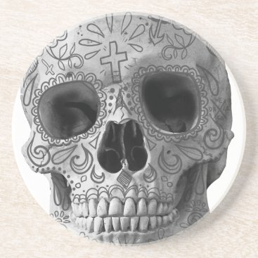 Aztec Themed Wellcoda Human Candy Skull Death Head Coaster