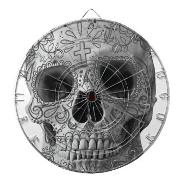 Aztec Themed Wellcoda Human Candy Skull Death Head Dart Board
