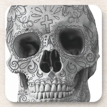 Aztec Themed Wellcoda Human Candy Skull Death Head Drink Coaster