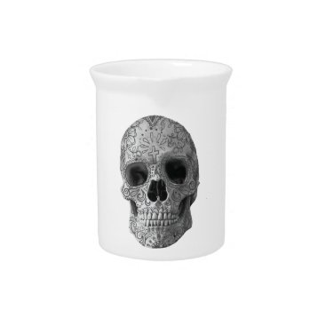 Aztec Themed Wellcoda Human Candy Skull Death Head Drink Pitcher