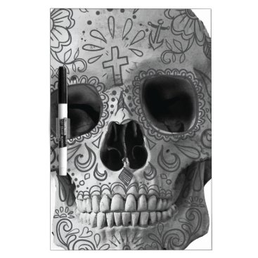Aztec Themed Wellcoda Human Candy Skull Death Head Dry-Erase Board