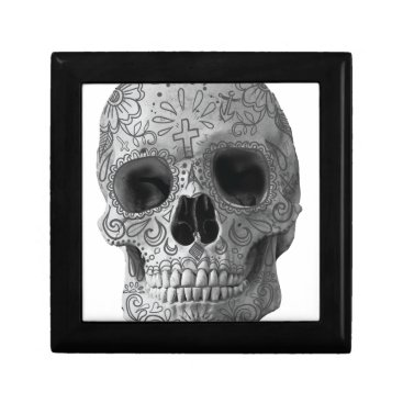 Aztec Themed Wellcoda Human Candy Skull Death Head Gift Box