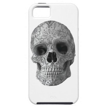 Aztec Themed Wellcoda Human Candy Skull Death Head iPhone SE/5/5s Case