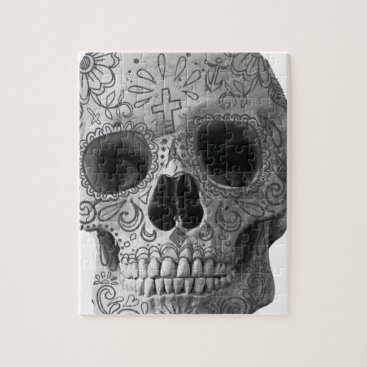 Aztec Themed Wellcoda Human Candy Skull Death Head Jigsaw Puzzle