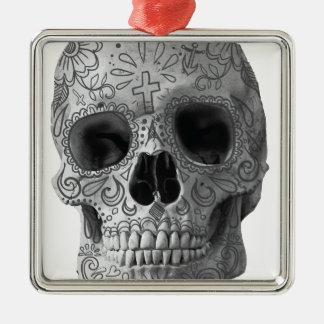 Wellcoda Human Candy Skull Death Head Metal Ornament