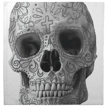 Aztec Themed Wellcoda Human Candy Skull Death Head Napkin