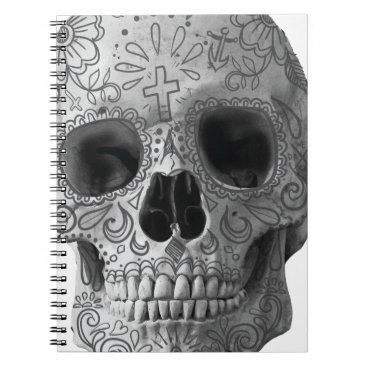 Aztec Themed Wellcoda Human Candy Skull Death Head Notebook