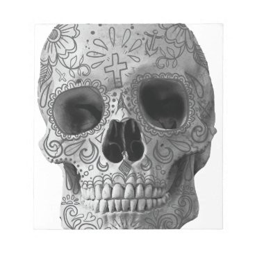 Aztec Themed Wellcoda Human Candy Skull Death Head Notepad
