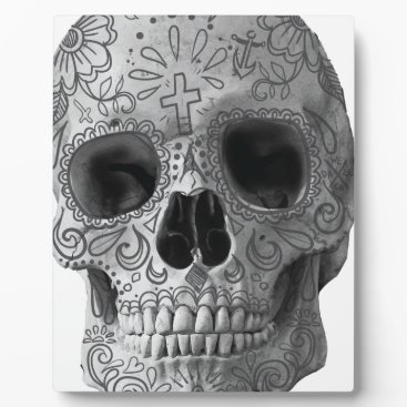 Aztec Themed Wellcoda Human Candy Skull Death Head Plaque
