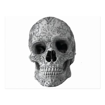 Aztec Themed Wellcoda Human Candy Skull Death Head Postcard