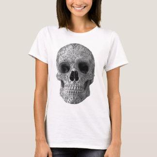 Wellcoda Human Candy Skull Death Head T-Shirt