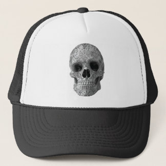 Wellcoda Human Candy Skull Death Head Trucker Hat