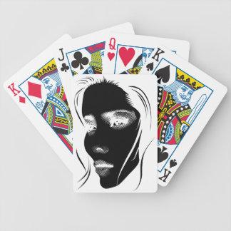 Wellcoda Human Face Beautiful Dream Girl Bicycle Playing Cards