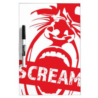 Wellcoda Human Face Scream Shout Yell Cry Dry-Erase Board