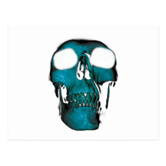 Wellcoda Human Head Horror Fun Creep Mask Postcard