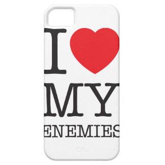 Wellcoda I Love My Enemies Fun Heart Hate iPhone SE/5/5s Case