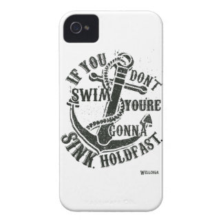 Wellcoda If You Dont Swim You Will Sink iPhone 4 Case