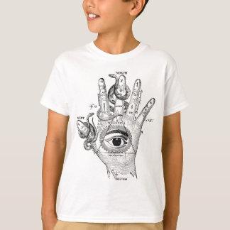 Wellcoda Illuminati Compass Snake Hand T-Shirt