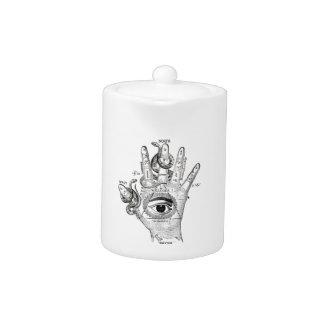 Wellcoda Illuminati Compass Snake Hand Teapot