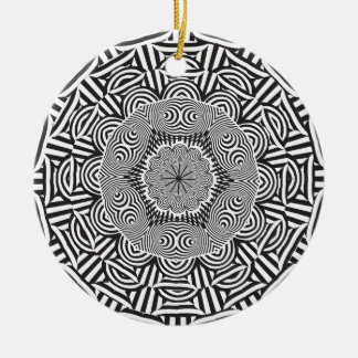 Wellcoda Indian Style Illusion Optical Ceramic Ornament