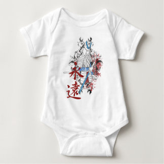 Wellcoda Japan Samurai Warrior Katana Sun Baby Bodysuit