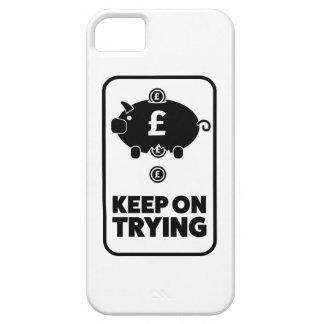 Wellcoda Keep On Trying Money Piggy Bank iPhone SE/5/5s Case
