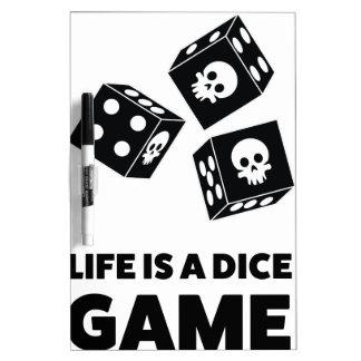 Wellcoda Life Is A Dice Game Casino Fun Dry-Erase Board