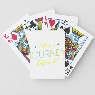 Wellcoda Life Is A Journey Enjoy The Ride Bicycle Playing Cards