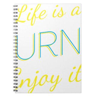 Wellcoda Life Is A Journey Enjoy The Ride Spiral Notebook