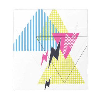 Wellcoda Lightning Bolt Triangle Flash 80's Notepad