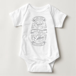 Wellcoda Limited Edition Not Special Fun Baby Bodysuit