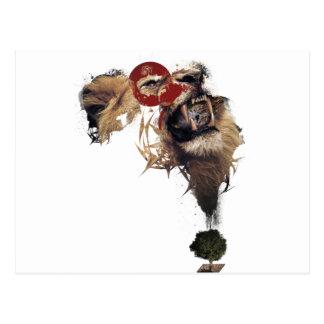 Wellcoda Lion King of Africa Wild Animal Postcard