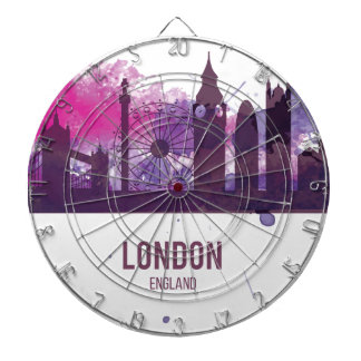 Wellcoda London Capital City UK England Dartboard With Darts