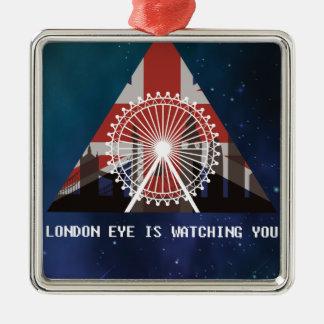 Wellcoda London Eye England UK Illuminati Metal Ornament