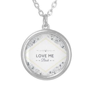 Wellcoda Love Me Back Promise Flower Life Round Pendant Necklace
