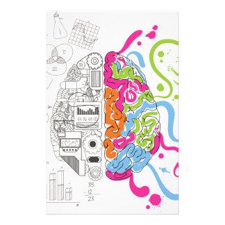 Wellcoda Mad Side Of Brain Fun Study Life Stationery