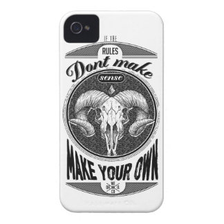 Wellcoda Make Your Own Rules Rebel Goat iPhone 4 Case-Mate Case