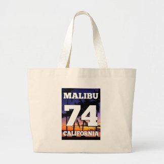 Wellcoda Malibu California USA Beach Life Jumbo Tote Bag