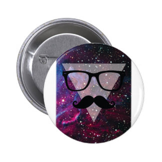 Wellcoda Master Disguise Space Funny Face Pinback Button