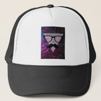 Wellcoda Master Disguise Space Funny Face Trucker Hat