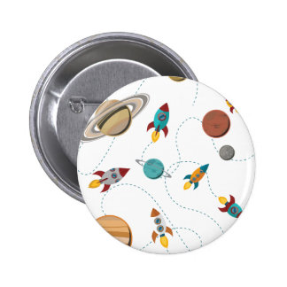 Wellcoda Meet You In Galaxy Mad Planet 2 Inch Round Button